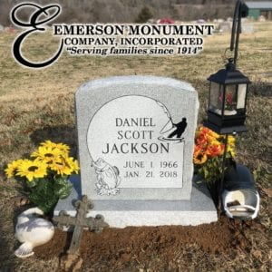 Emerson Monument Co | Jackson Fishing Upright Monument
