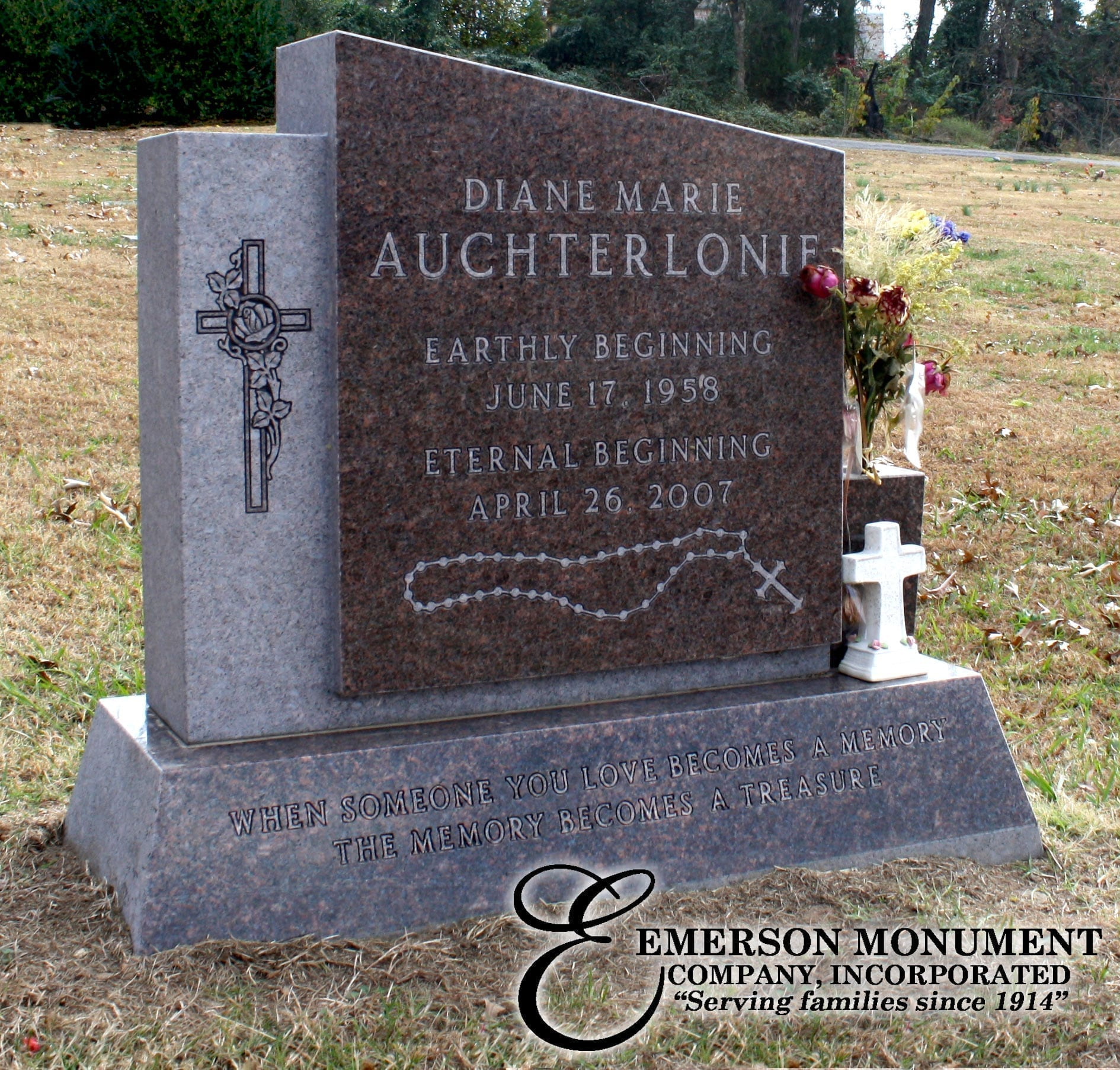 Emerson Monument Company | Single Person Monument